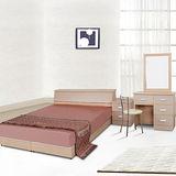 伊琳思六件式雙人床組+立鏡組(含床墊)-三色可選