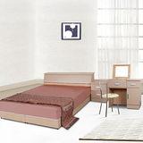 伊琳思六件式雙人床組+掀鏡組(含床墊)-三色可選