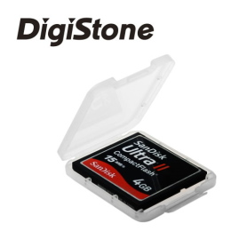 DigiStone 優質CF 1片裝記憶卡收納盒/白透明色 (3個)