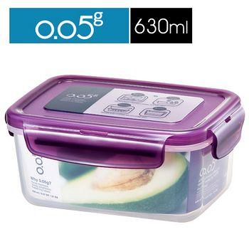 樂扣  0.05g超鮮PP保鮮盒-長方型(630ml)