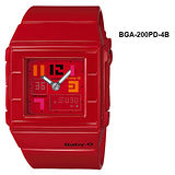 CASIO BABY-G 品味美女風運動錶BGA-200PD-4B