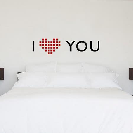 【ORIENTAL高品質進口壁貼】I love you dot 家飾裝潢無痕系列