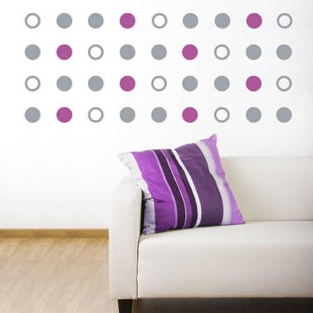 【ORIENTAL高品質進口壁貼】Plus circle 家飾裝潢無痕系列