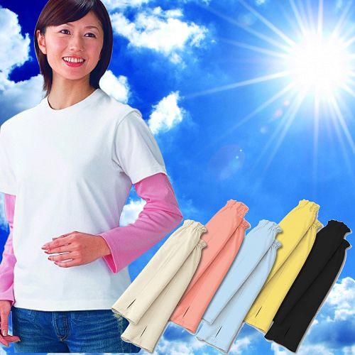(任選)【日本製。抗UV吸濕速乾防曬袖套】粉紅色