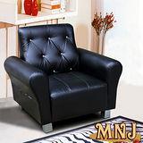 MNJ-經典風情拉扣獨立筒沙發-1人座