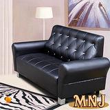 MNJ-經典風情拉扣獨立筒沙發-2人座