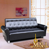 MNJ-經典風情拉扣獨立筒沙發-3人座