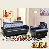 MNJ-經典風情拉扣獨立筒沙發-1+3人座