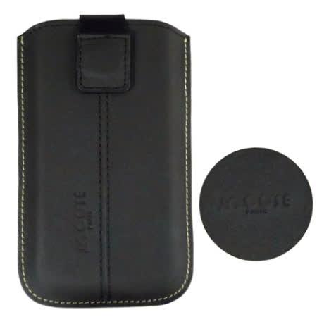 COSE HTC Touch Diamond 真皮(小牛皮)抽拉式手機套(磁鐵吸附式)