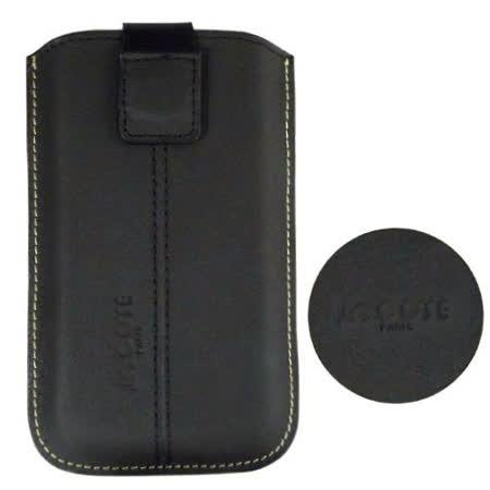 COSE SAMSUNG i5801 Galaxy 580 真皮(小牛皮)抽拉式手機套(磁鐵吸附式)