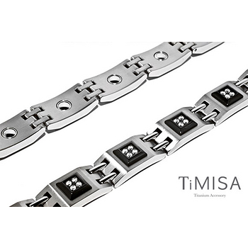 【TiMISA】豪氣萬千 純鈦鍺手鍊