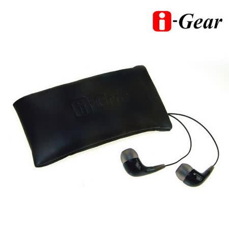 i-Gear 筆電專用高音質入耳式耳機麥克風(黑)