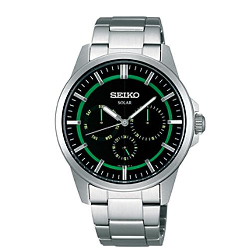 SEIKO 太陽能綠光線時尚腕錶V14J-0AX0M/SBPV905J