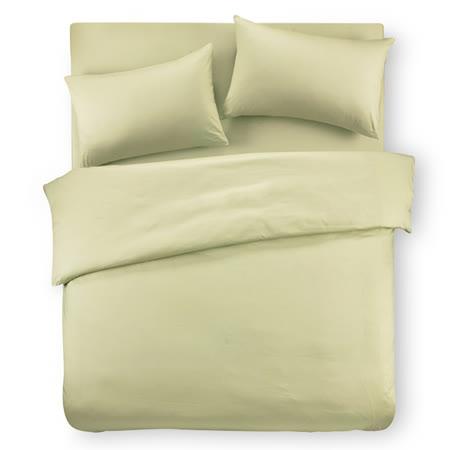 【Famttini-典藏原色】雙人四件式純棉床包組-果綠