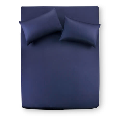 【Famttini-典藏原色】雙人三件式純棉床包組-深藍