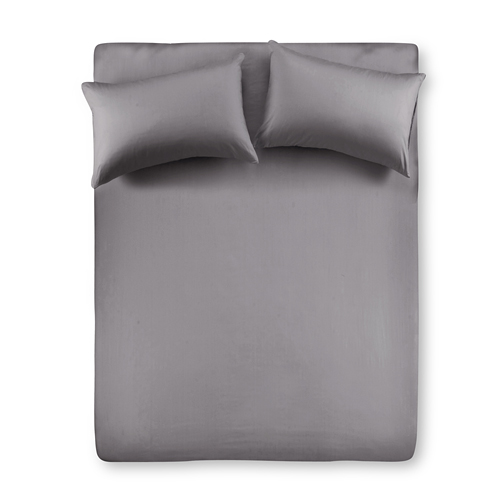 【Famttini-典藏原色】雙人三件式純棉床包組-灰色