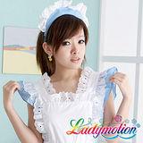 【Ladymotion】社長。。請讓我服務你吧!♥ 日系藍色女僕役♥ 角色扮演服