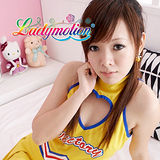 【Ladymotion】教練!我今天的表演...及格嗎?♥日系黃色女高生啦啦隊♥ 角色扮演服