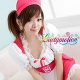 【Ladymotion】愛我吧!主人!♥日系白紅相間花色♥ 女傭系列