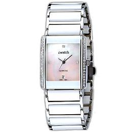 iwatch 方形陶瓷晶鑽貝質腕錶(大)