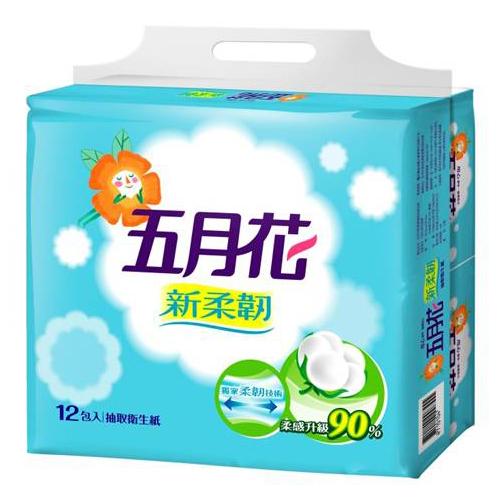 五月花新柔韌抽取式衛生紙110抽^~12包