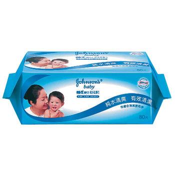 嬌生嬰兒純水柔溼巾(棉柔加厚型)80片