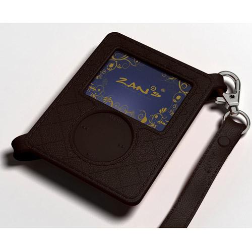 iPOD Nano 時尚格紋保護套(黑)~ 矽膠材質