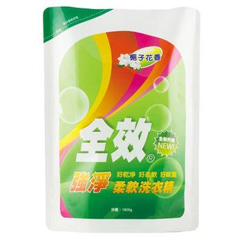 毛寶全效柔軟洗衣精補充包-強淨1800g