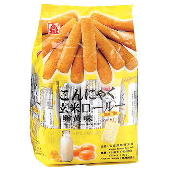 北田蒟蒻糙米卷-蛋黃口味160g