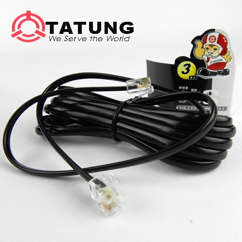 【TATUNG】電話延長線(3m/黑)3入組 TBAV-C144