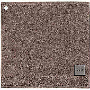 《WINKLER》50cm MARK 精梳棉毛巾(深棕褐)