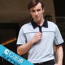 【瑞多仕-RATOPS】男款 布領POLO衫. 吸溼排汗纖維. 抗UV.透氣、抗菌、快乾#8341 A