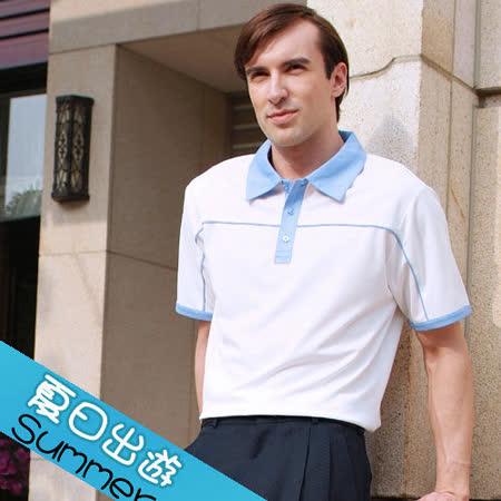 【瑞多仕-RATOPS】男款 布領POLO衫. 吸溼排汗纖維. 抗UV.透氣、抗菌、快乾#8340 A