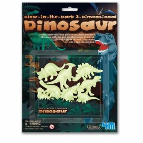 ^(  ^) 3D立體螢光恐龍貼片