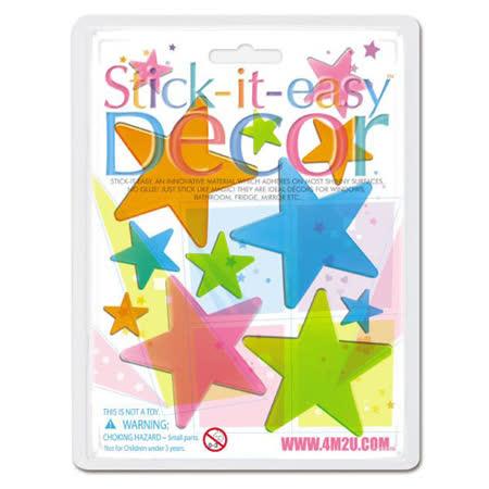『美國4M2U』創意禮品-Stick-It-Easy Decor-Star玻璃貼片系列--共8款可選擇