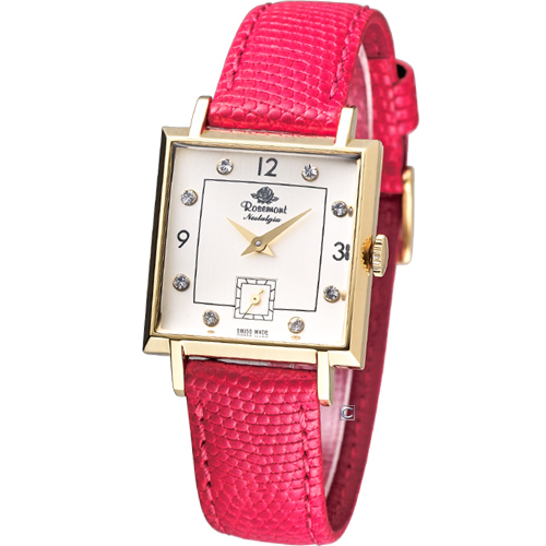 Rosemont 戀舊系列 魅力腕錶TN004-YW-CRD紅色款