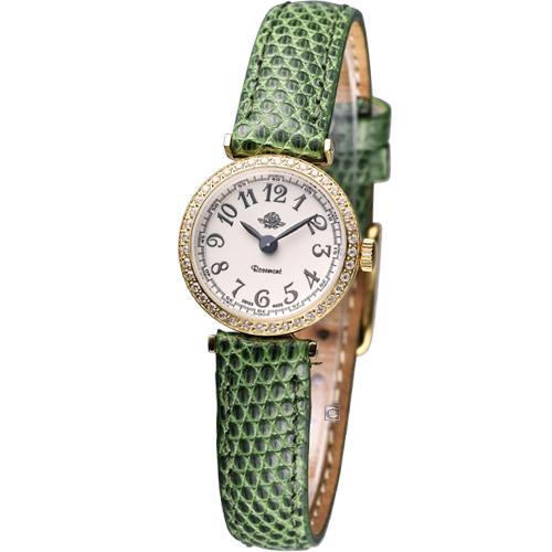 Rosemont 茶香玫瑰系列 超薄時尚錶TRS010-01YG-LE-GN綠色