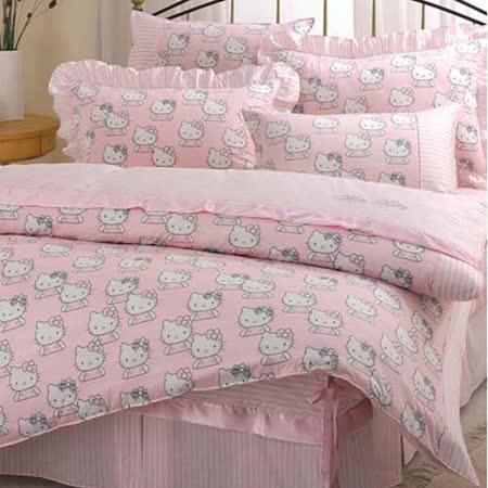 Hello Kitty貴族學園--雙人床包涼被組