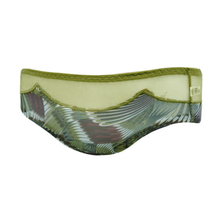 【曼黛瑪璉】F64009-1 混時尚III  低腰寬邊三角網褲(孔雀綠)