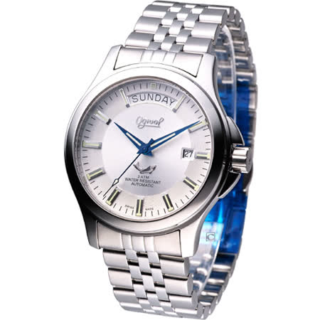 Ogival 愛其華 貴族時尚風 機械錶3353AMS銀白色