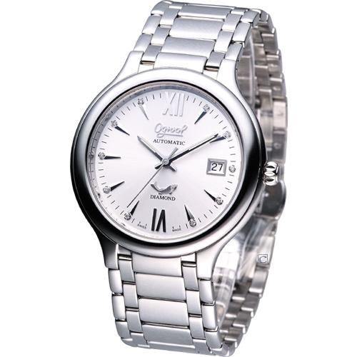 Ogival 愛其華 百搭時尚 機械錶3832AJMS銀白色款