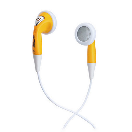 Genius GHP-02S 耳塞式隨身耳機(黃色)