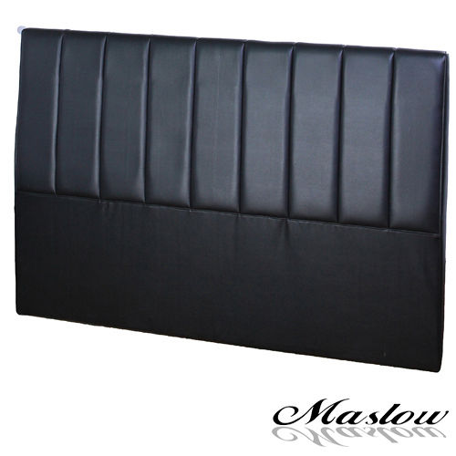 【Maslow-簡約線條皮製】雙人床頭-5尺(黑)