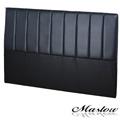 【Maslow-簡約線條皮製】加大床頭-6尺(黑)