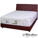 【Maslow-簡約線條暗紅色皮製】加大床組-6尺(不含床墊)