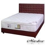 【Maslow-時尚格紋暗紅色皮製】單人床組-3.5尺(不含床墊)