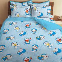 【享夢城堡】哆啦A夢 我的法寶系列-雙人床包薄被套組
