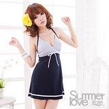 【SUMMERLOVE 夏之戀】俏麗洋裝款二件式泳衣E11793