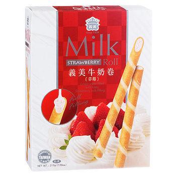 義美鮮乳卷-草莓口味215g