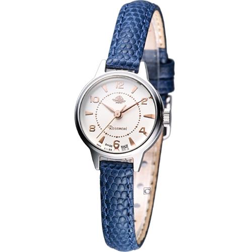 Rosemont 骨董風玫瑰系列 時尚腕錶RS001-08深藍色
